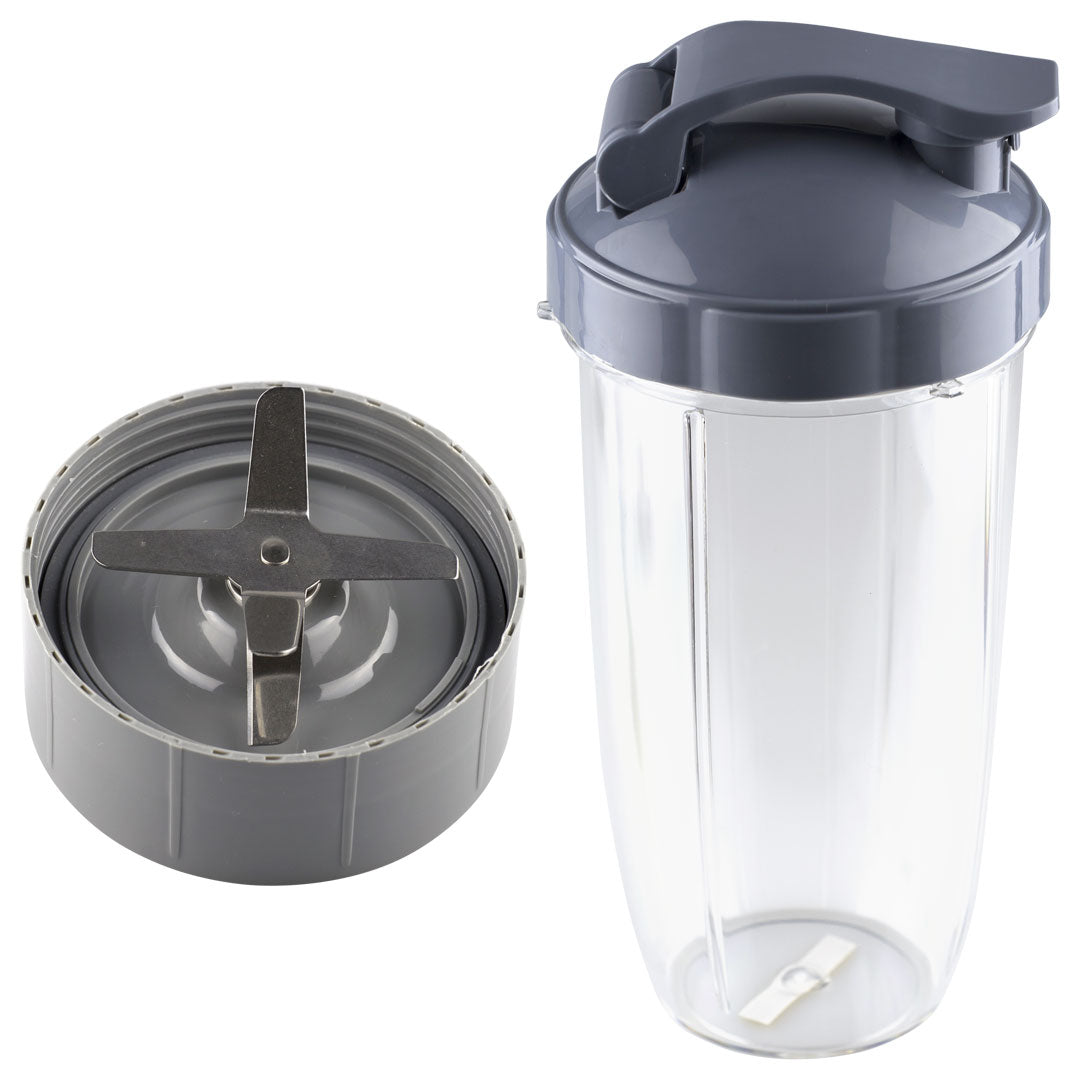 NutriBullet Extractor Blade + 32 oz Colossal Cup + Flip Top To Go Lid Combo