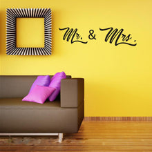 Load image into Gallery viewer, Mr. & Mrs. Vinyl Decal