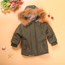 Load image into Gallery viewer, Army Green Hooded Coat