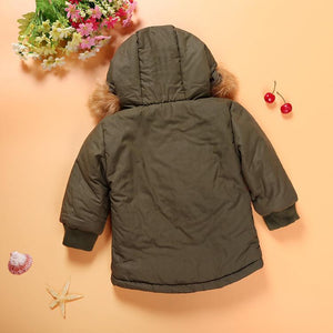Army Green Hooded Coat