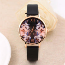 Load image into Gallery viewer, Midnight Floral Quartz Watch