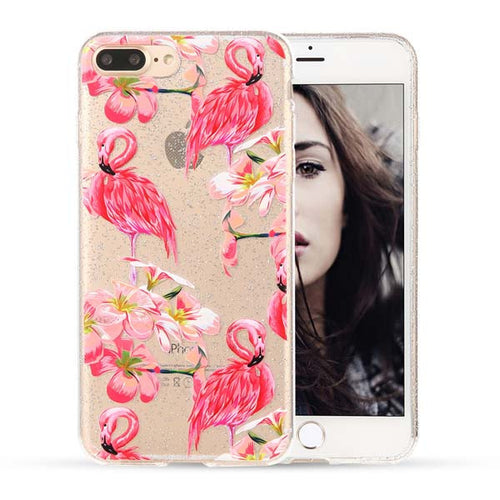 Flamingo Flower iPhone Case