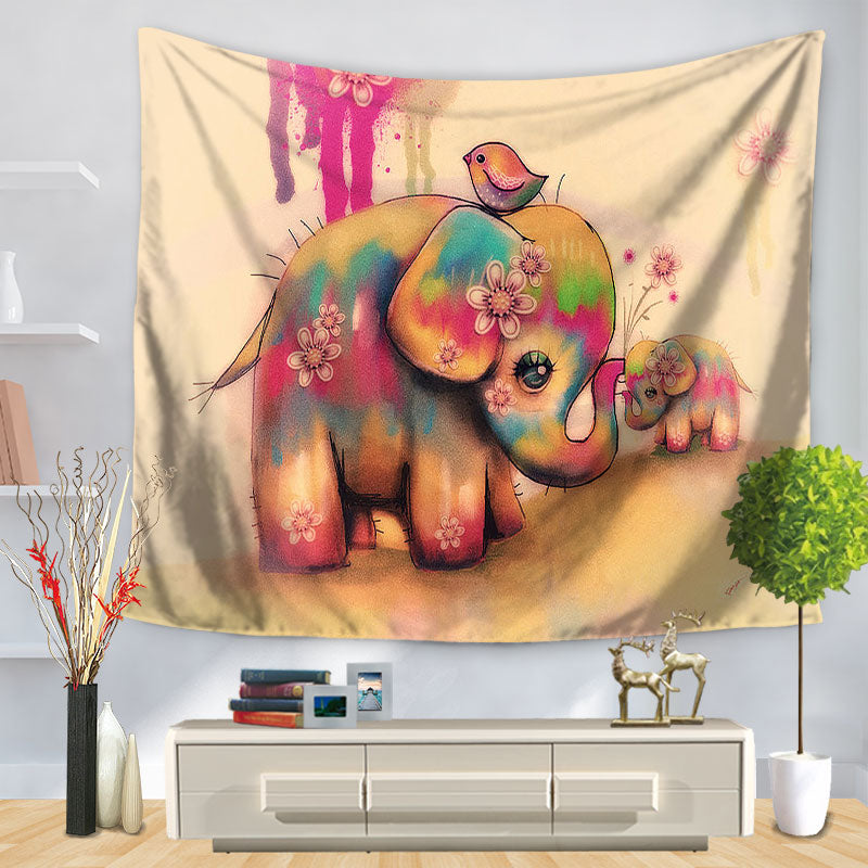 Pink Elephant Tapestry