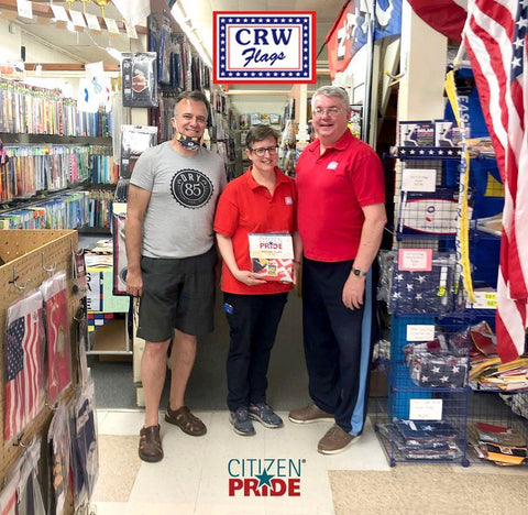 Joe Barsin visit to CRW Flags, a small, family-owned business in Glen Burnie, Maryland.