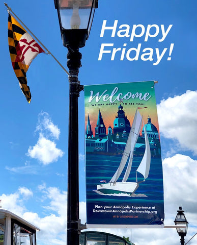 Downtown Annapolis Partnership  for featuring local artist's work (OURS!) on the new WELCOME banners downtown