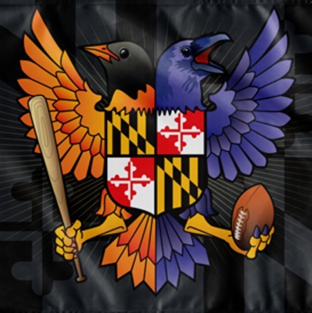 "Birdland Baltimore Maryland Crest, Large Flag, 60 x 36"" w/ 2 grommets"