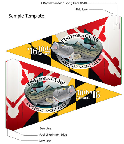 Sample template of a Custom Burgee by Citizen Pride