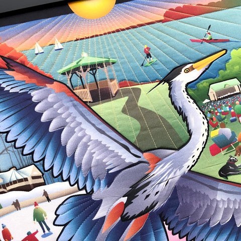 Lois Findlay  loved the illustration that Joe Barsin  was commissioned for (by Anne Arundel County Department of Recreation and Parks ) to celebrate the 30th Anniversary of Quiet Waters Park.