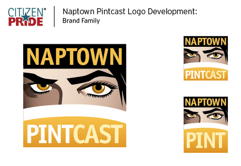 Citizen Pride / JEB Design, Inc. rebranding of Liz Murphy's Naptown Pint and Naptown Pintcast.