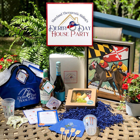 Derby Day logo and branding for the Maryland Therapeutic Riding