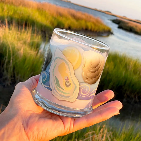 Luxury Soy Candle, Sea Minerals Fragrance with Gift Packaging