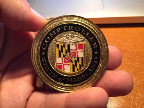 Comptroller of Maryland Challenge Coin for Joe Barsin