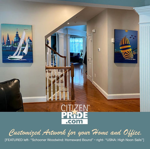 """LOVING how these two large, 30-40"""" canvases look in one of our customer's beautiful home."""