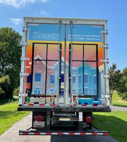 Capital Heights in Wahington DC - Zeskinds truck back panel