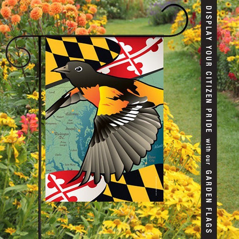 Citizen Pride Maryland Orioles house and garden flags