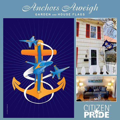 """Anchors Aweigh"" flag is a tribute to the Midshipmen of the United States Naval Academy"