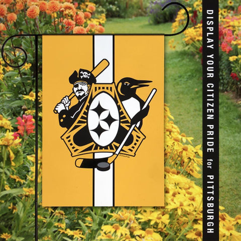Pittsburgh Sports Fan Three Rivers Roar Flag