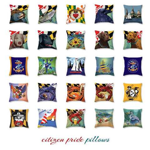 Citizen Pride Throw Pillow Collection
