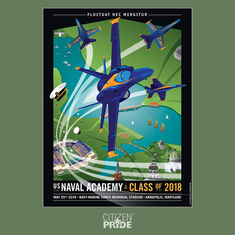 USNA Class of 2018 Commemorative Gift with Blue Angels airshow