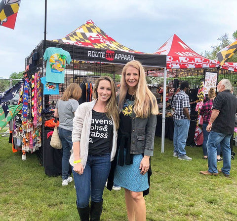Ali von Paris, CEO of Route One Apparel, and Eva Barsin of Citizen Pride at the Made in Maryland Festival