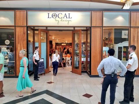 Entrance of Local By Design at Westfield Mall in Annapolis