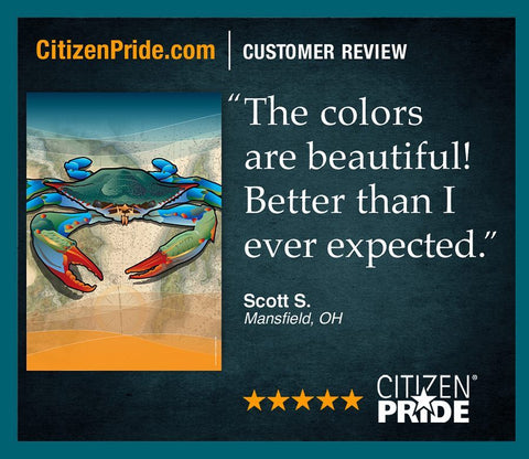 Fan loves our Blue Crab colors in CP's flags