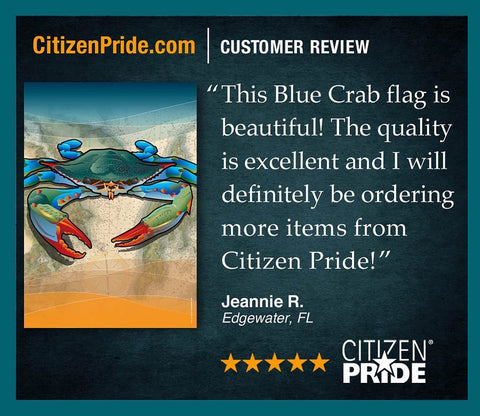 Florida Customer loves CP's Coastal Blue Crab Flag