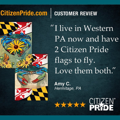 PA fan loves our Black-eyed Susan Blue Crab Flags