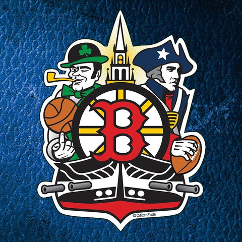 Boston Sports Fan Crest die cut Sticker by Citizen Pride