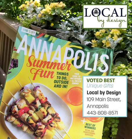 Enjoying some summer reading in the July issue of What's Up? Media/Annapolis