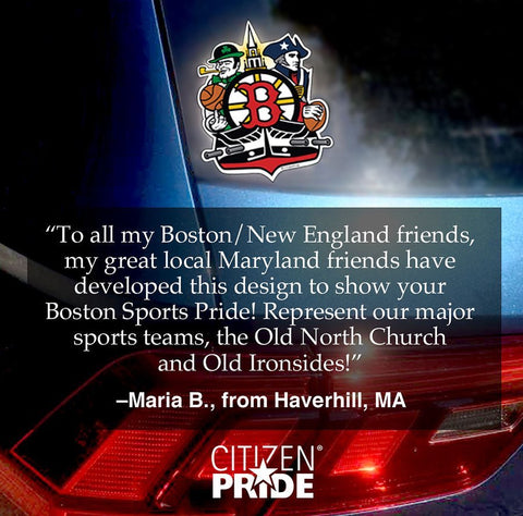 Fan quote of our new Boston Sports Fan Crest sticker
