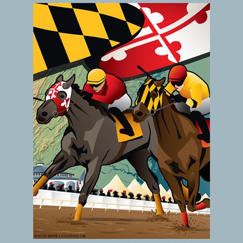 Maryland Horse Racing Derby - Art Print