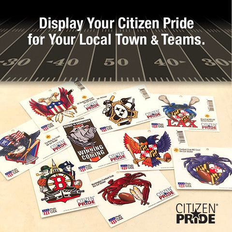 Our stickers, flags and wall art will allow you to #displayyourcitizenpride