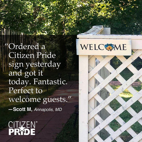 Citizen Pride Sign is Perfect for AirBnB guest