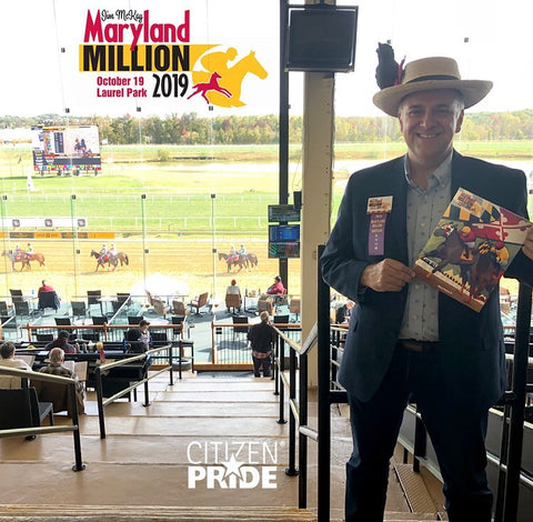 Closing out a wonderful weekend with the highlight being attending the Maryland Million Day on Saturday. Having artwork by Citizen Pride's Joe Barsin on the cover of the program was an honor and we thank the Maryland Thoroughbred organization for the opportunity and great experience at Laurel Park.