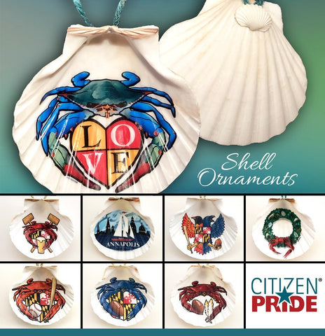 Citizen Pride's brand new Ornaments! Hand-made in Rockhall, Maryland.