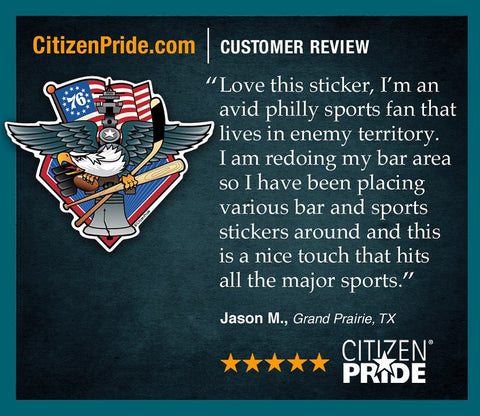 Fan Review of Fly. Philly. Fly. Sports Fan Crest Sticker