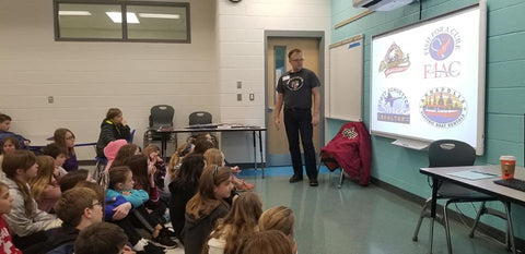 Joe Barsin of Citizen Pride was honored to be asked to visit Arnold Elementary today to talk with 95 5th grade students about logo design.