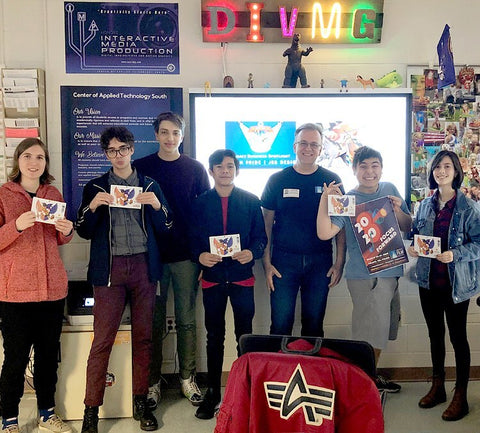 Joe Barsin of Citizen Pride was invited to speak to students of the advanced graphics class at Center of Applied Technology South-Anne Arundel County about having a career in Graphic Design.