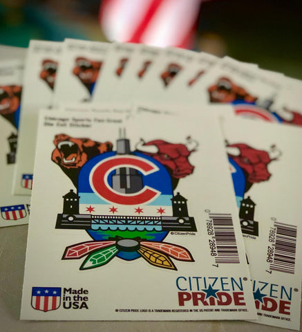 Chicago Sports Fan Crest Stickers are headed out to Goodfellas Barbershop in Indiana. That makes us smile today.