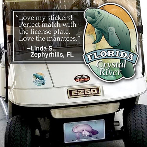 Manatee Sticker - We appreciate your kind reviews and especially now, your photos showing how and where you Display Your Citizen Pride. (Thanks, Linda!)