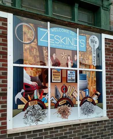Citizen Pride mural for Zeskind's Hardware and Millwork