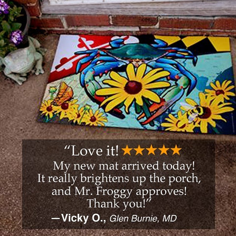 Our first Reviews are coming in for our new #doormats! Thank you, Vicky, we're thrilled you love it.