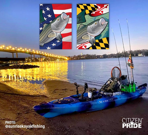 CITIZEN PRIDE FLAGS of Rockfish and Striped Bass
