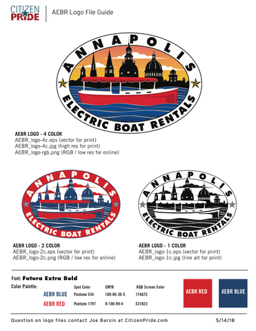 New logo for Annapolis Electric Boat Rentals