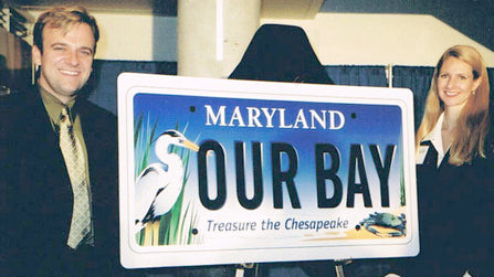 Maryland Bay Plate unveil with Joe and Eva Barsin of Citizen Pride