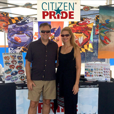 Laurel Park event with Citizen Pride display