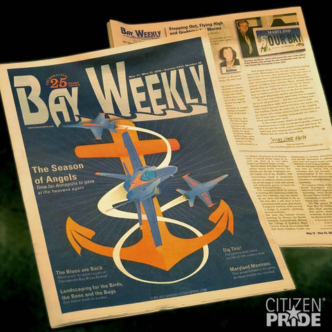 Bay Weekly Magazine, May 2018 issue: Cover art by Joe Barsin of Citizen Pride