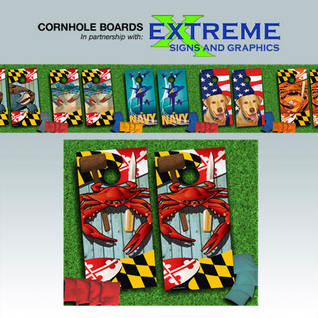 Citizen Pride cornhole board designs