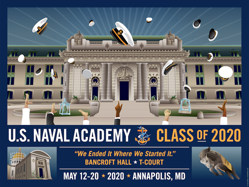 USNA Class of 2020 Bancroft Hall T-Court Celebration
